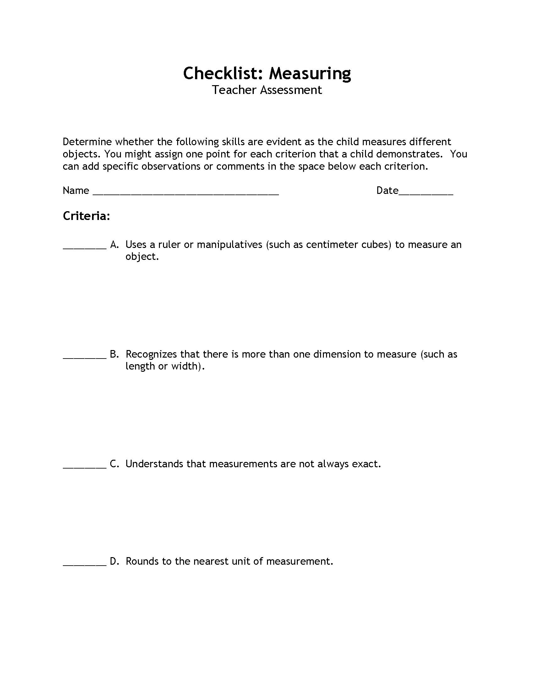 Science and Children Online Connections – Change Plan Worksheet