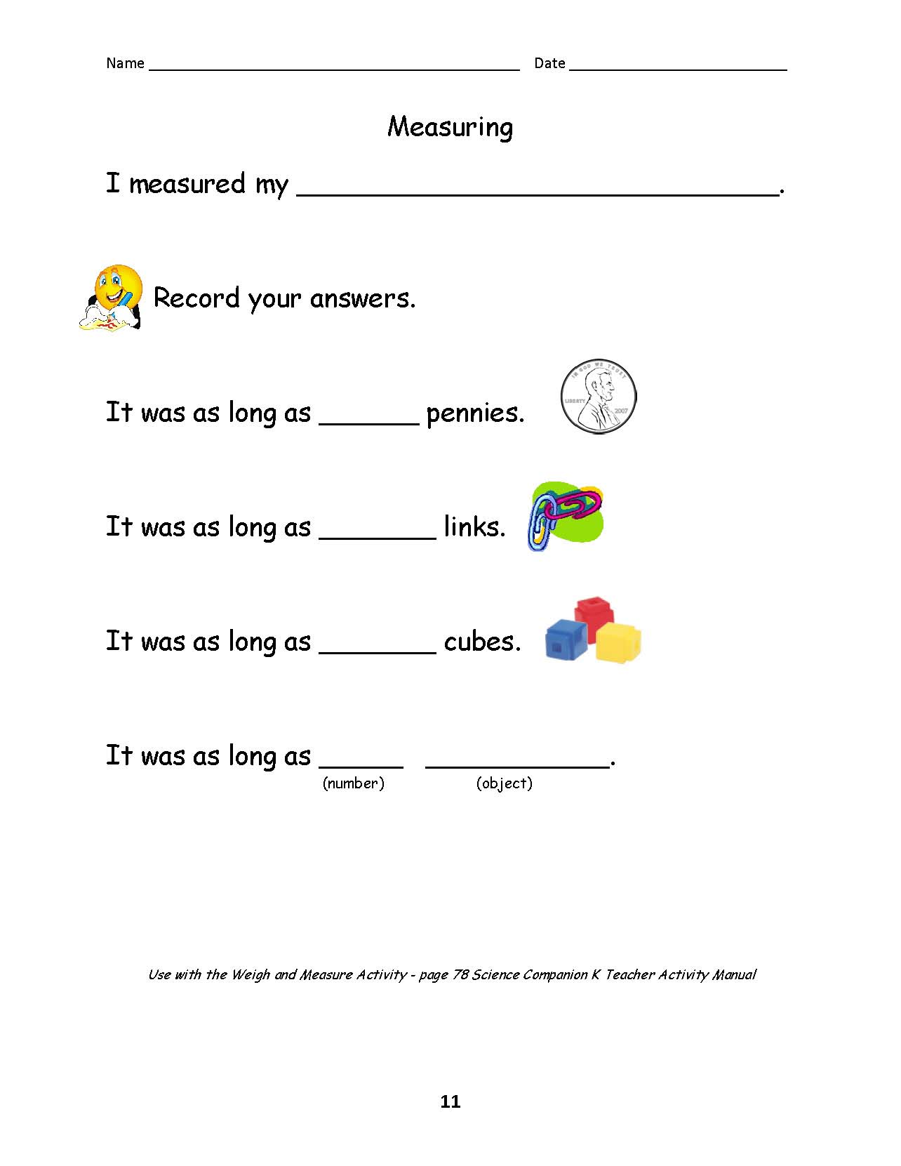 Science and Children Online Connections – Graphic Sources Worksheets